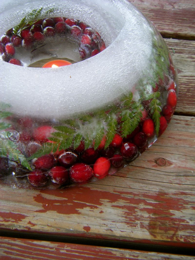 DIY Holiday Ice Wreath